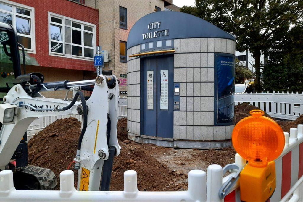 So sah die alte Toilette in Lütgendortmund aus. Sie wurde im Herbst ausgebuddelt.