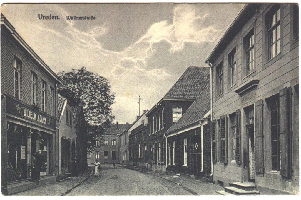 Das Geschäft Mümken in der Wüllener Straße vor vielen Jahrzehnten