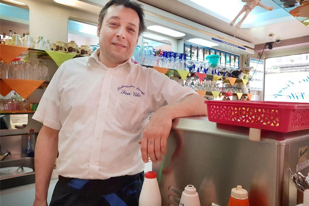 Michele Gasperini vom Eiscafé San Vito in Stadtlohn machte sich im Frühjahr 2020 viele Gedanken rund um die Coronavirus-Lage in der Partnerstadt San Vito.