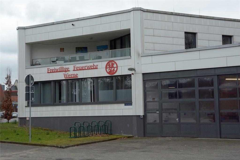 In diesem Gebäude nahe des Stadthauses ist die Freiwillige Feuerwehr Werne heute untergebracht.