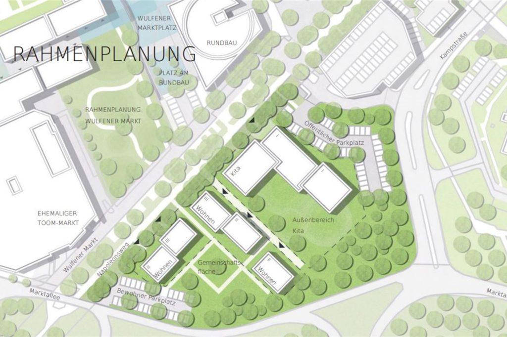 Das Gelände Alter Kamp/Marktallee ist Teil der Rahmenplanung vom Architekturbüro