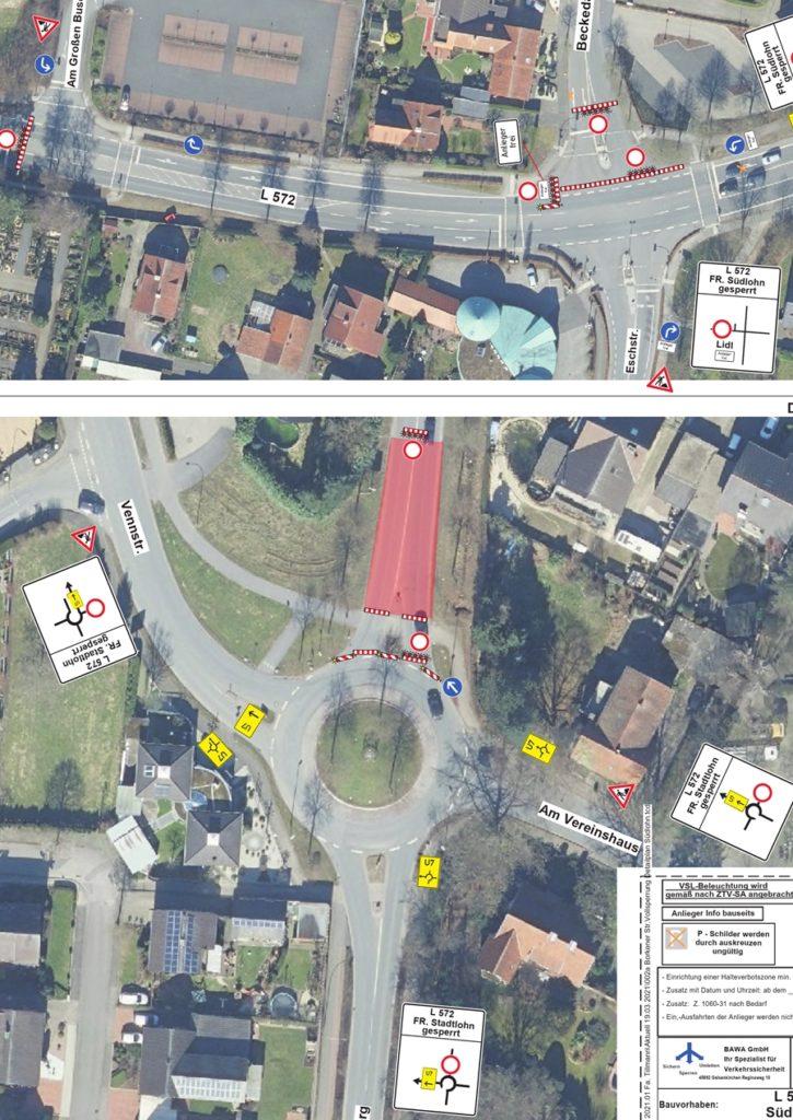Die einzelnen Umleitungsstrecken wurden vom Kreis Borken genehmigt.