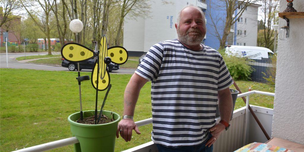 Der Dortmunder Christian Clobes setzt sich für die Belange der anderen Mieter in der Großsiedlung ein.