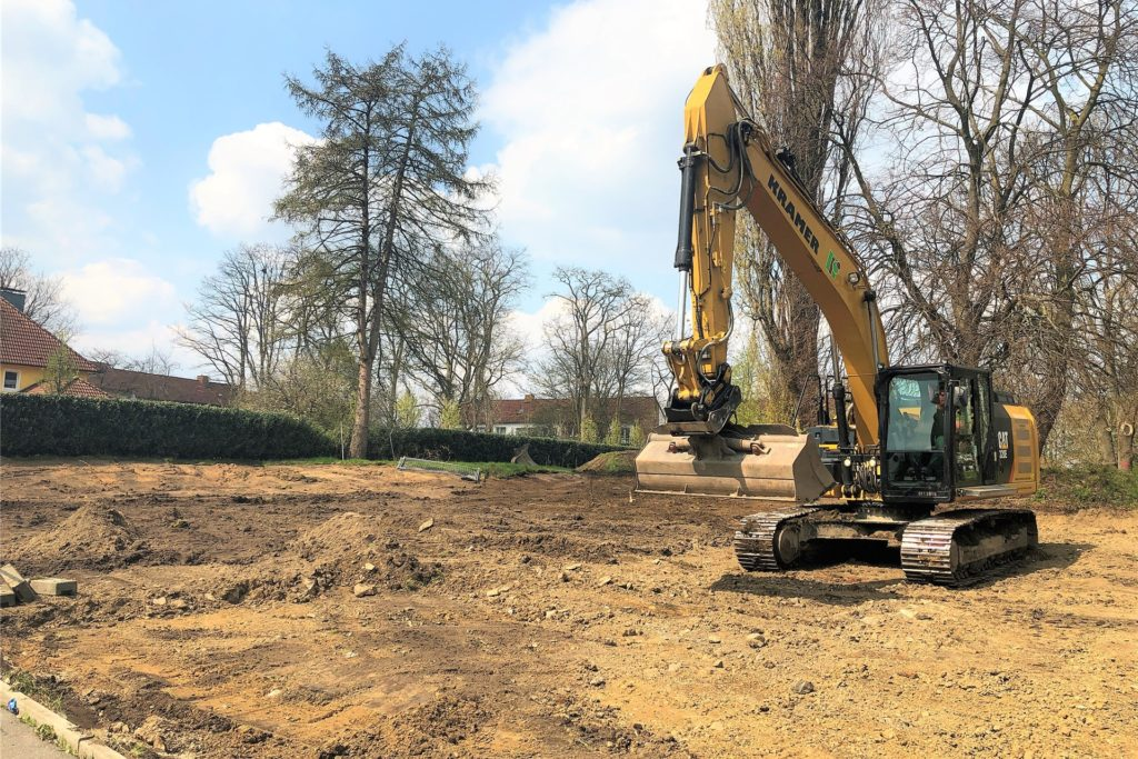 Die Bauarbeiten für den neuen Wohnpark haben am 19. April begonnen.