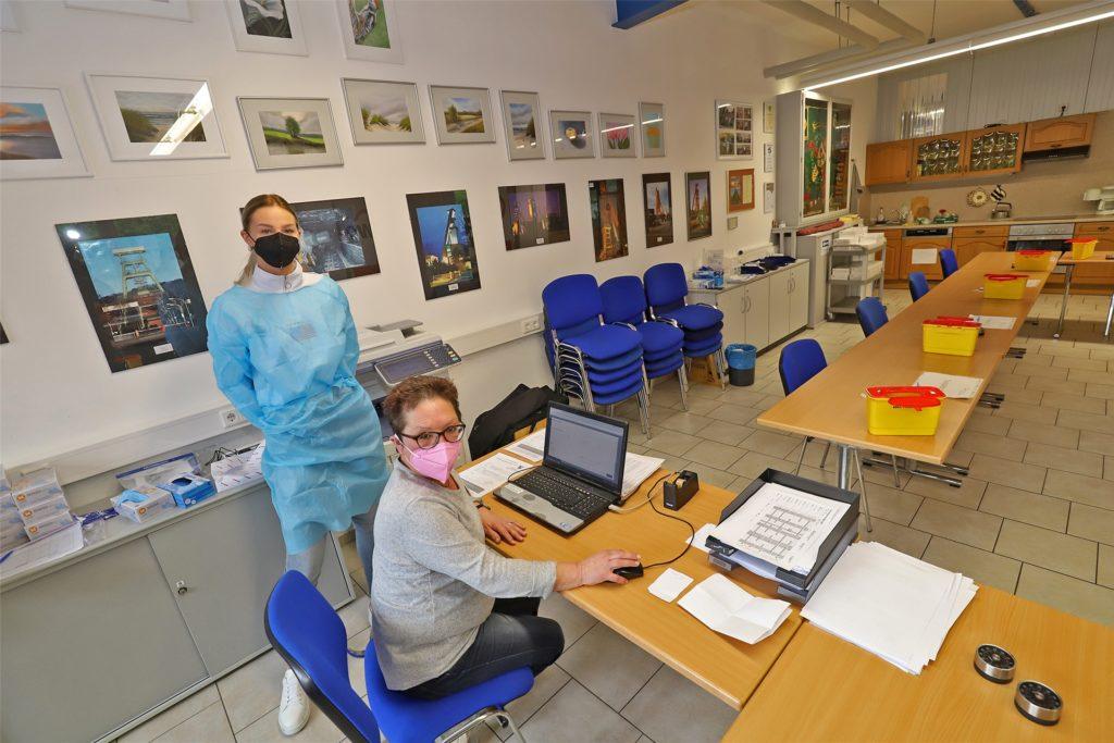 Seit dem 24. März dienen die Räume des Ortsvereins Südkamen, direkt an der Zentrale der Awo Ruhr-Lippe-Ems gelegen, als Schnelltestzentrum.