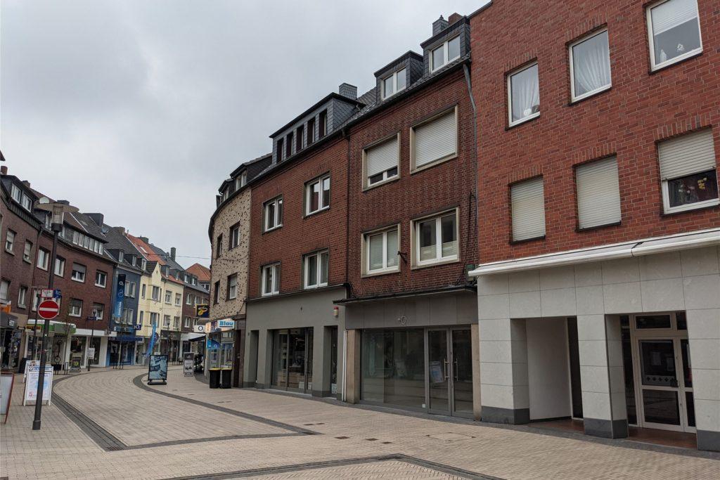 In diesem Bereich der Lippestraße gibt es viele Leerstände.