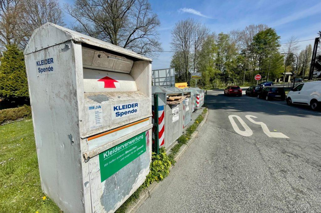 Hier steht ein Fremdcontainer neben dem EDG-Standort. Auch das ist nicht erlaubt.
