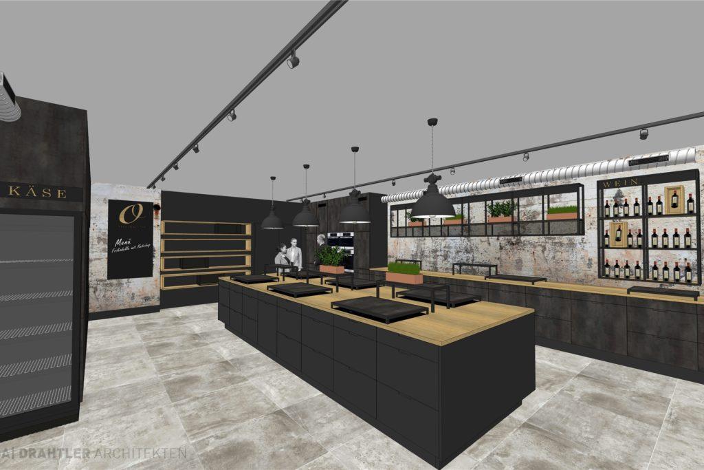 Der Ladenbereich verbindet Verkauf, Präsentation und Veranstaltungsort.