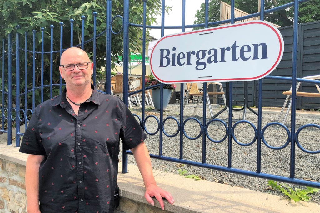 Torsten Potyka hofft, dass er seinen Biergarten bald wieder öffnen kann.