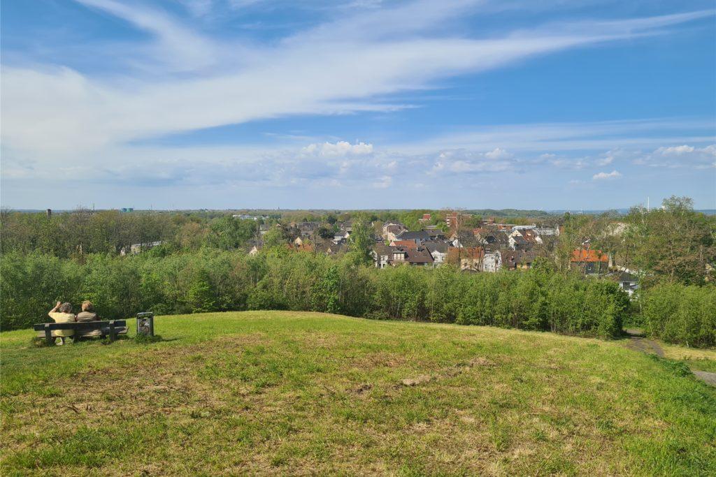 Der Blick von der Halde Schwerin in Richtung Westen