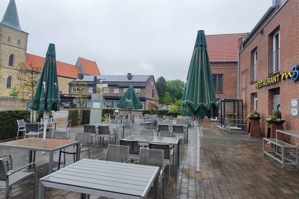 Am Wochenende ist die Terrasse des Restaurants M3 bereits wieder geöffnet. Die Betreiber hoffen, dass bald auch die Innengastronomie geöffnet werden darf.