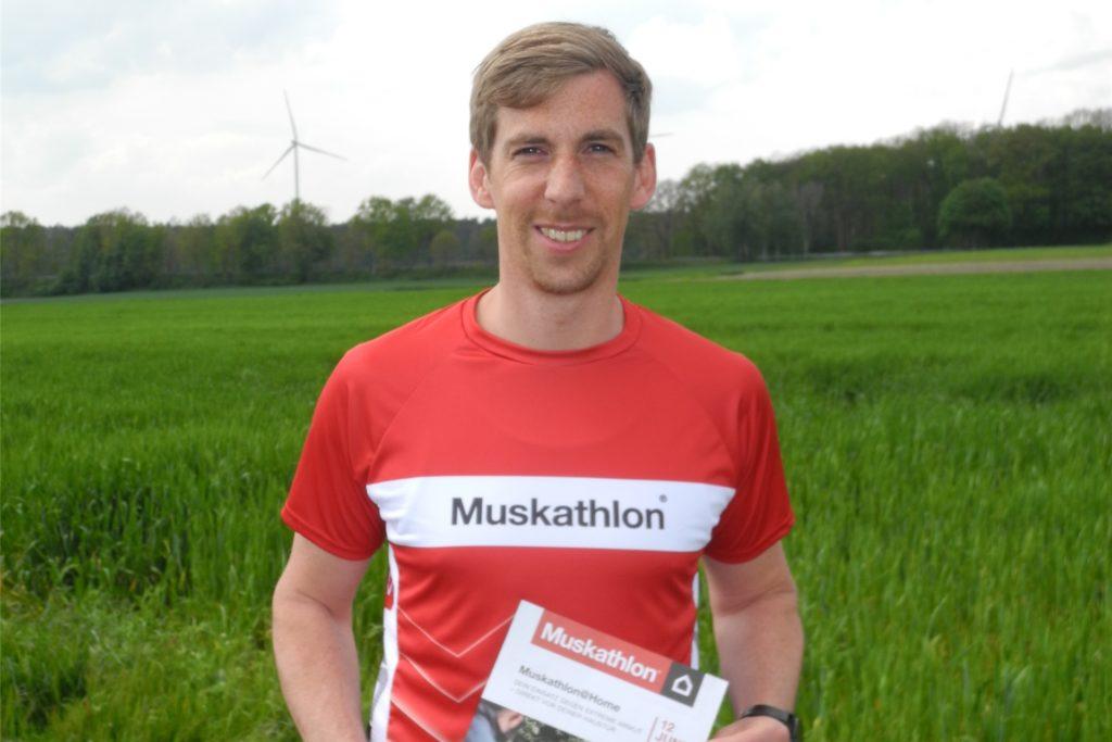Daniel Timmer will am 12. Juni den Muskathlon laufen.