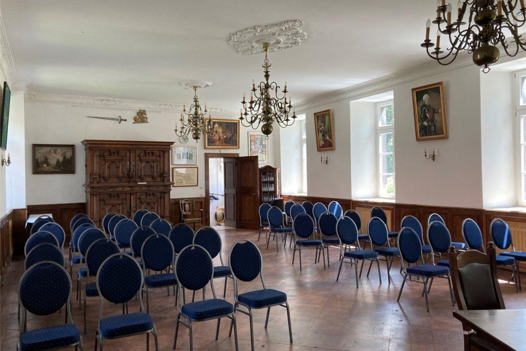 Der Rittersaal des Schlosses Bladenhorst, in dem man sich auch trauen lassen kann.