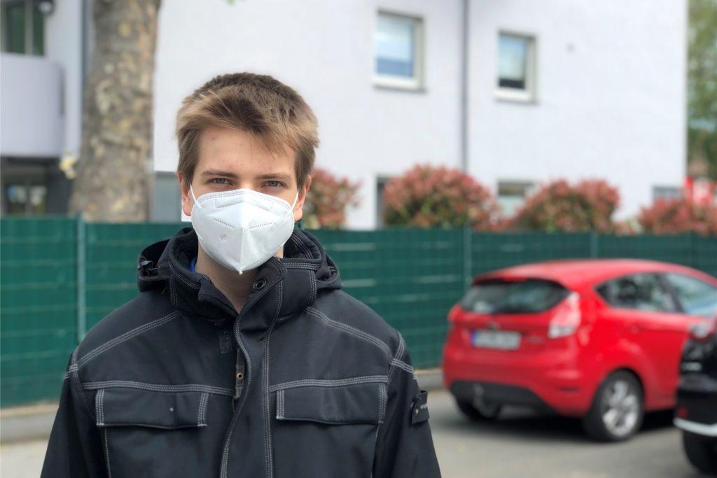 """Fynn Marlinbielitz nimmt am Projekt """"Mikroklima"""" teil."""