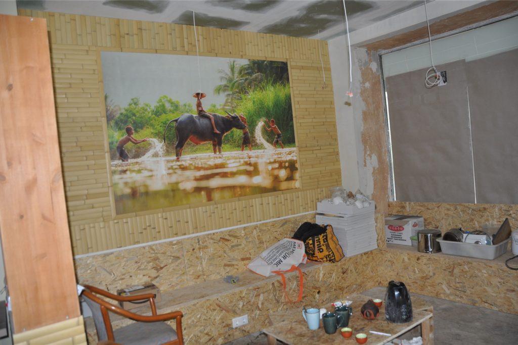 Innen ist noch Baustelle. Mit vietnamesischen Landschaftsbildern soll asiatisches Flair einziehen.