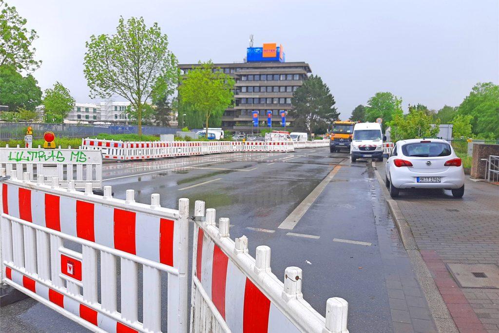 Seit Anfang April ist die Zufahrt von der Stockumer Straße zum Luisenglück gesperrt. Nach den Planungen soll das ab 28. Mai Vergangenheit sein.