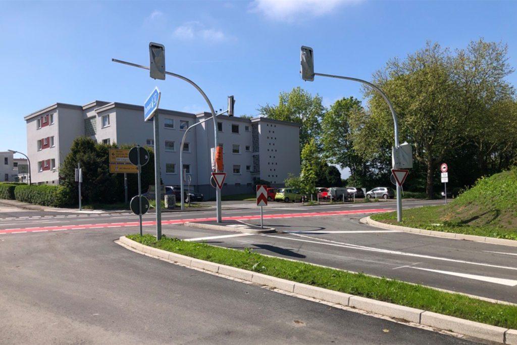 Erst in der zweiten Juni-Woche nimmt die Stadt die Ampeln in Betrieb.