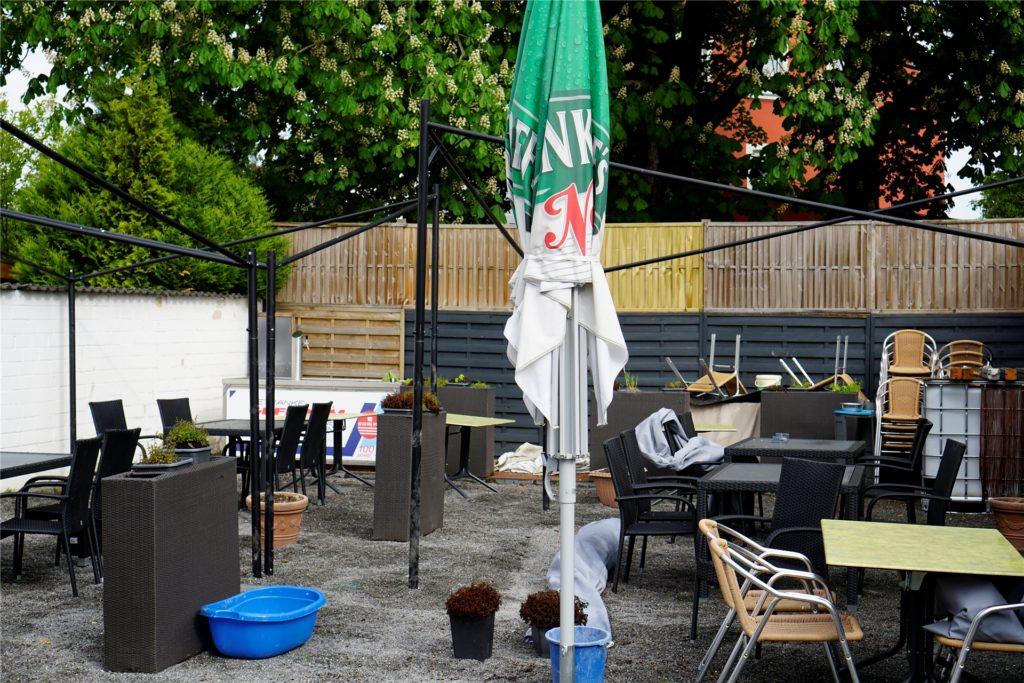 Das Restaurant Fachwerk in Bodelschwingh steckte am Donnerstag noch mitten in den Vorbereitungen.