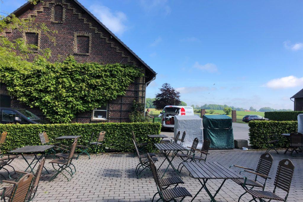 Die Außengastronomie des Hofes Schulze Kökelsum darf wieder öffnen.
