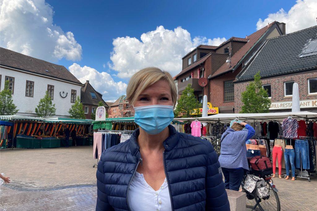 Daniela Becker wird neue Marktmeisterin in Olfen.