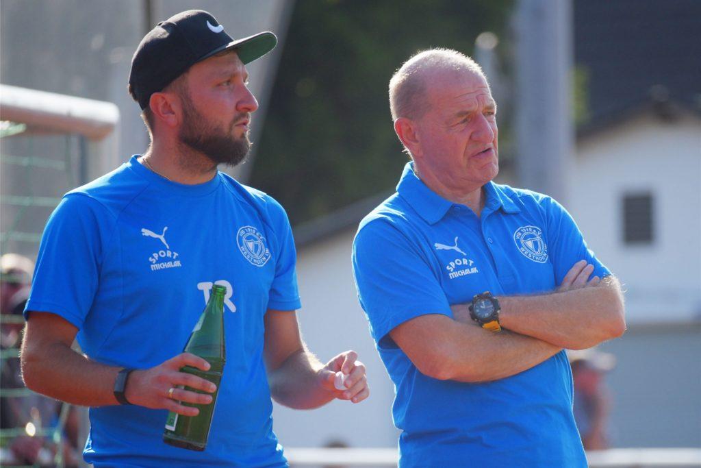 Westhofens-Trainerduo: Christoph Pajdzik und Lothar Huber (r.)