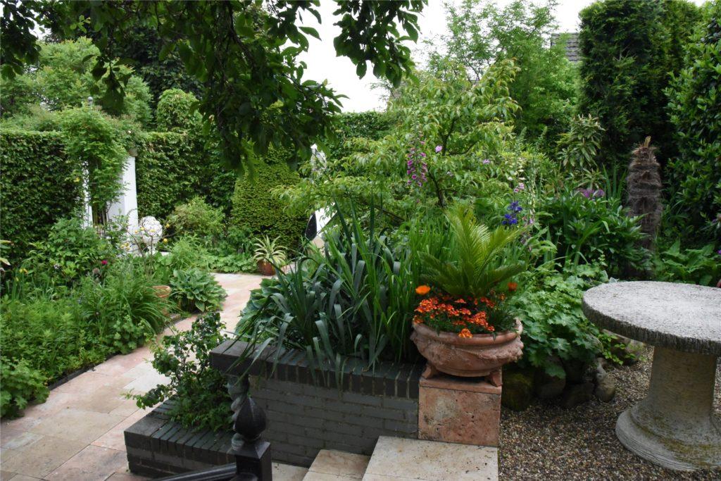 Ein Blick in den Terrassengarten
