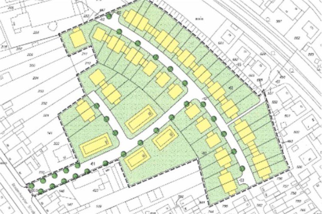 Auf dem alten Hermecke-Gelände sollen 40 Wohneinheiten in Einfamilienhäusern (freistehend, als Doppel- und Reihenhäuser) und 35 Wohneinheiten in Mehrfamiienhäusern realisiert werden, so die erste Planung.