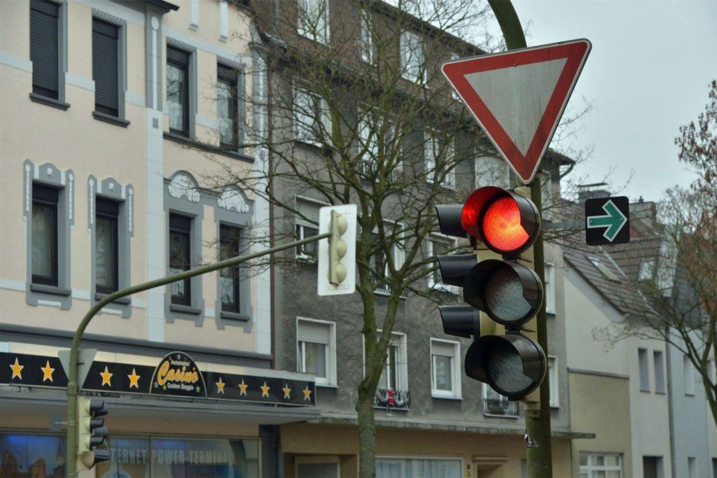 Auch in anderen Bereichen der Stadt Lünen - hier einst in Brambauer - sind die grünen Pfeile Geschichte.