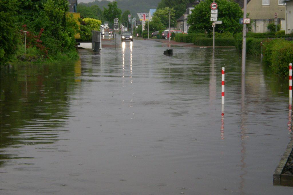 So sah es am 30. Mai 2016 auf der Annabergstraße nach heftigen Unwettern aus.