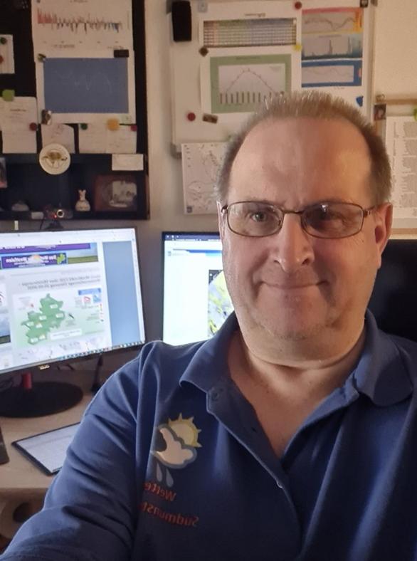 Frank Baranek ist Hobbymeteorologe aus Ahlen und betreibt Wettervorhersagen für das südliche Münsterland, auch für den Kreis Borken.
