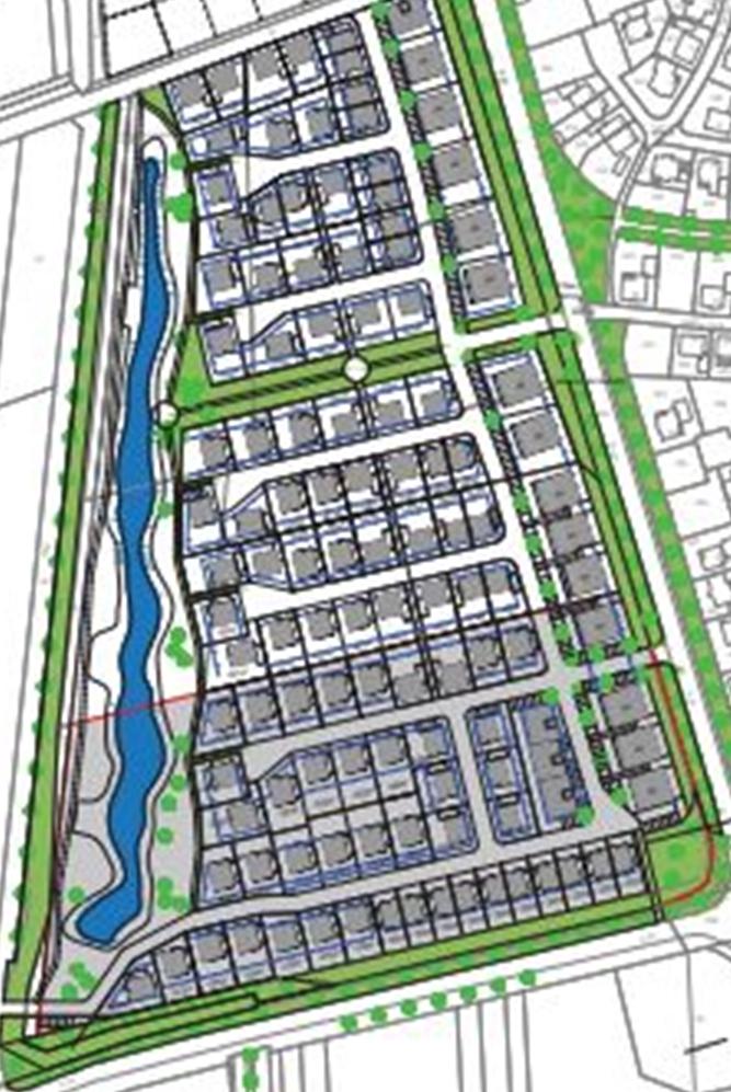 Der Planetnwurf zum Baugebiet Pfingsfeld
