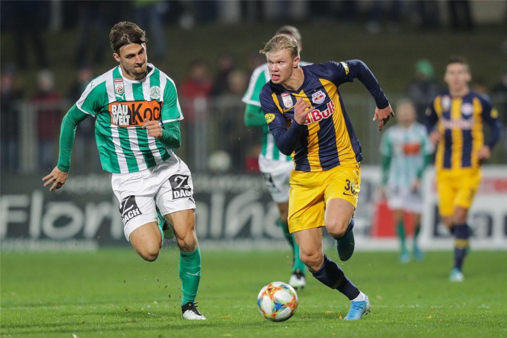 Es ist gar nicht so lange her, da kickte der SV Mattersburg (grün-weiß) noch in der ersten österreichischen Liga gegen Erling Haaland und RB Salzburg.