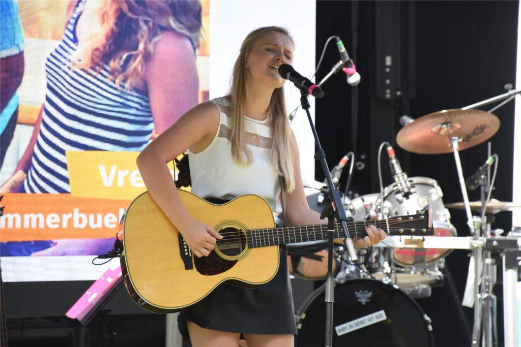 Für Laura van Kaam war es der erste Live-Auftritt seit Langem.