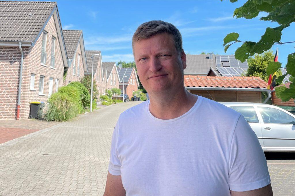 Anwohner Ulrich Werdin ist erleichtert, dass an seinem Haus und Grundstück keine Schäden entstanden.