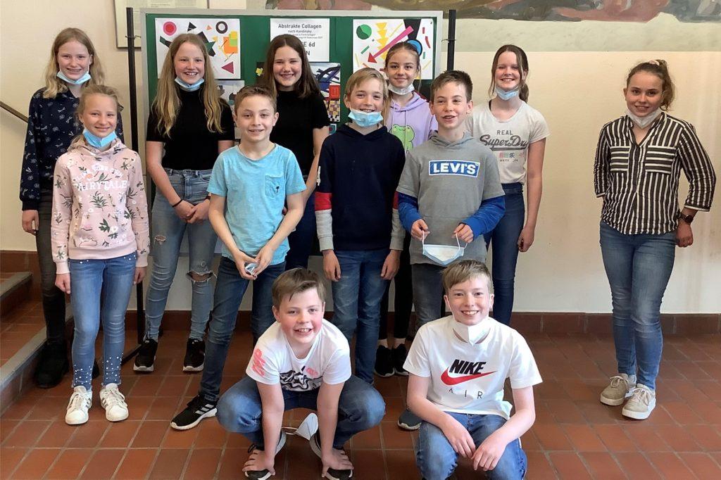 Die Landessieger des Gymnasiums Georgianum der Klasse 6.
