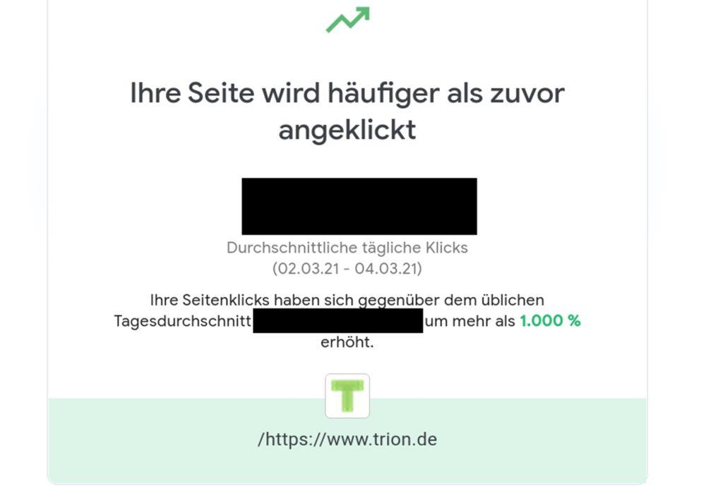 """Die Internetseite der trion development GmbH wurde nach bekanntwerden der Vorgänge um das Projekt """"Trion"""" aus Heek viel öfter als gewöhnlich besucht."""