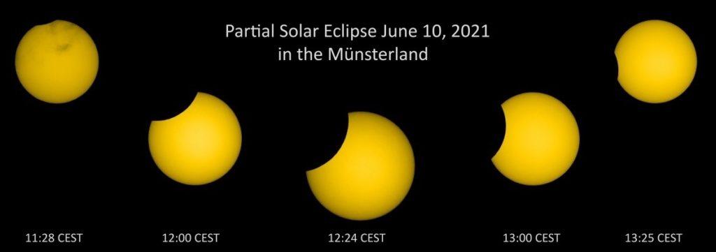 Die Sonnenfinsternis hat Wolfgang Zimmermann in ihren verschiedenen Stufen beobachtet.