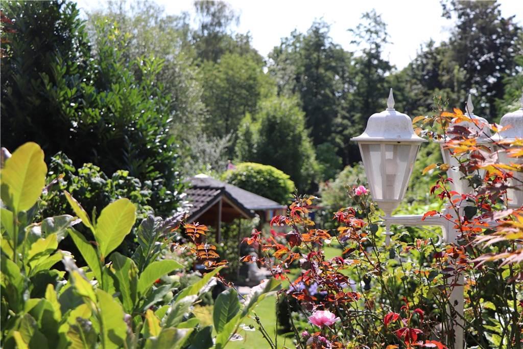 Der Garten von Gerda Grüne liegt etwas versteckt