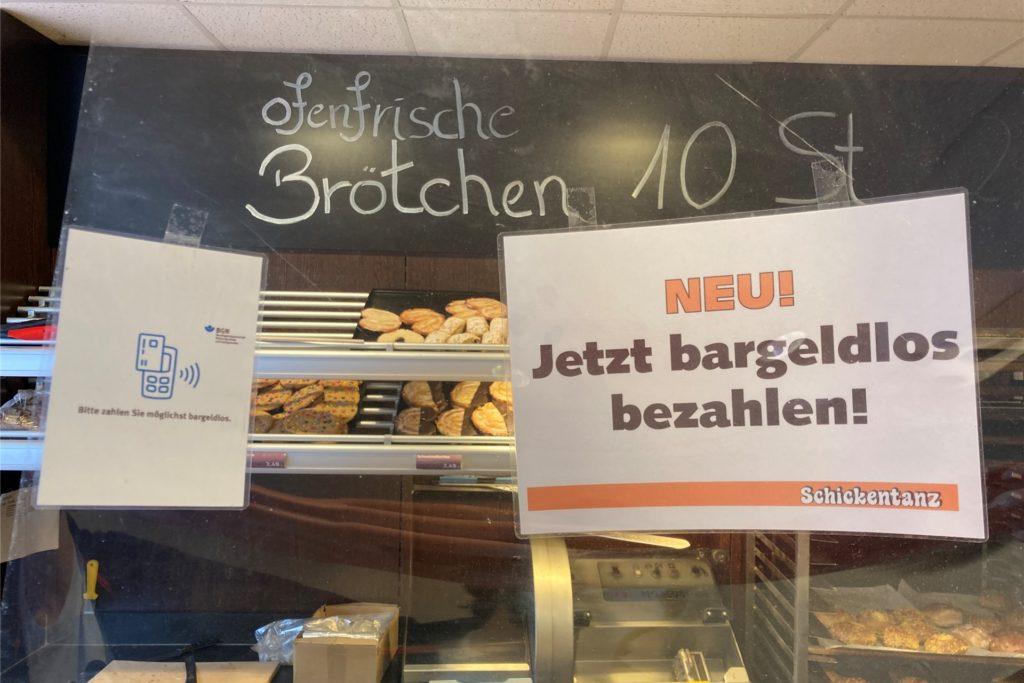 Während der Corona-Krise wurde die Kartenzahlung auch in der Bäckerei Schickentanz in der Altstadt eingeführt.