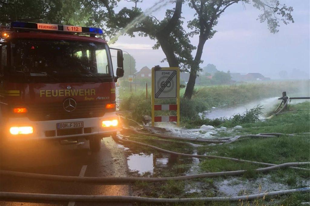 Die Feuerwehr Südlohn ist Mitglied der Kreisbereitschaft Mitte. Zuletzt wurde diese Ende Juni zur Unterstützung bei einem Unwetter nach Bocholt angefordert.
