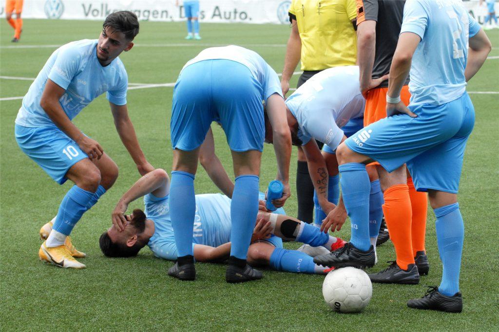 Timur Karagülmez verletzt, SV Schermbeck