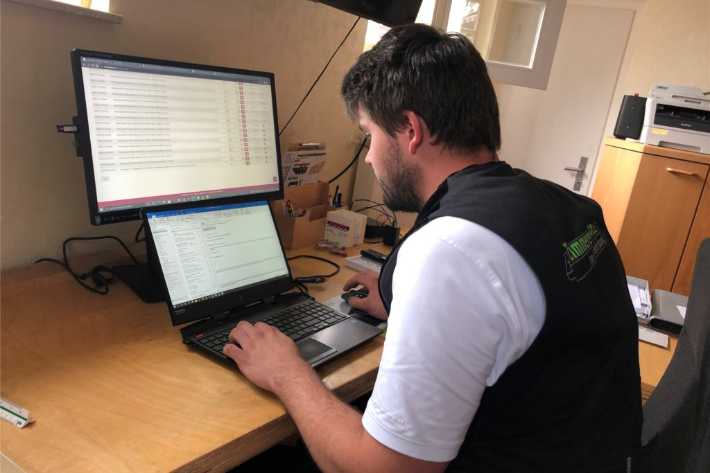 Büroarbeit gehört zum Alltag von Alexander Rohde dazu.