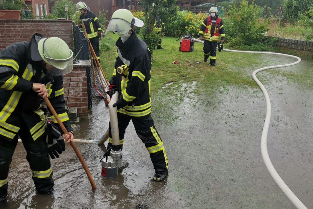 Auch in Ascheberg gab es für die Feuerwehr einiges zu tun. Dennoch hatte das Unwetter hier nicht annährend so große Auswirkungen wie in Werne.