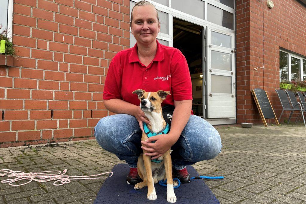 Frauchen Anja hat Eddy aus der Tierrettung in Kroatien mit nach Deutschland gebracht.