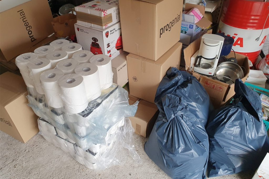 Die ersten Spenden kamen ganz schnell zusammen.