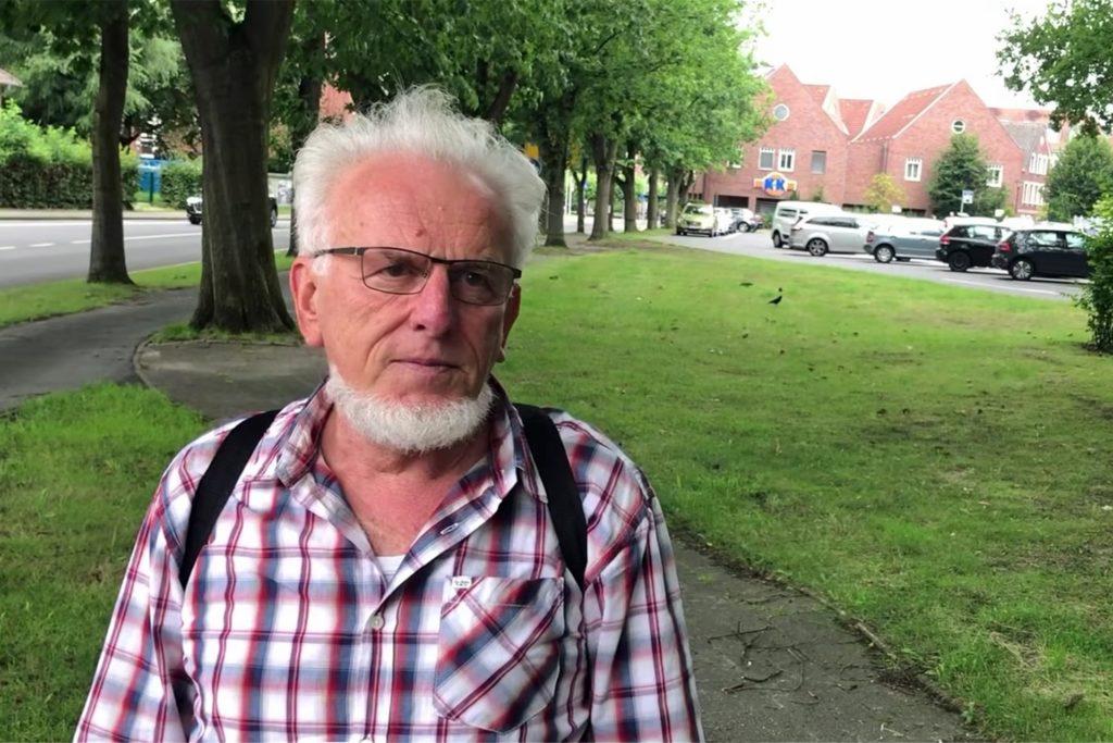 Winfried Hoch am Einmündungsbereich Kurt-Schumacher-Straße/Am Griesetorn.