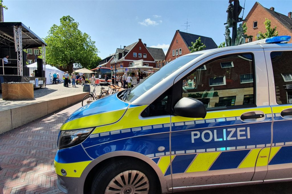 Während der gesamten Dauer des Impffestivals war die Polizei vor Ort.