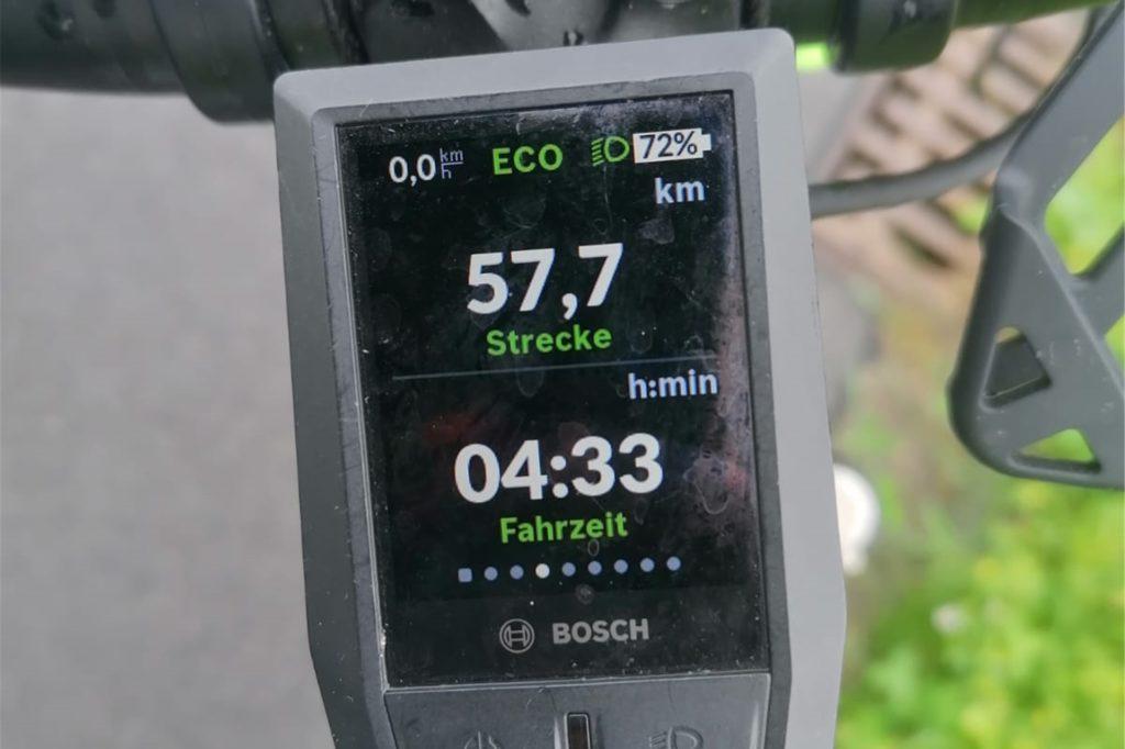 Bis Roxel legte die Familie die 57,7 Kilometer in gut viereinhalb Stunden zurück.
