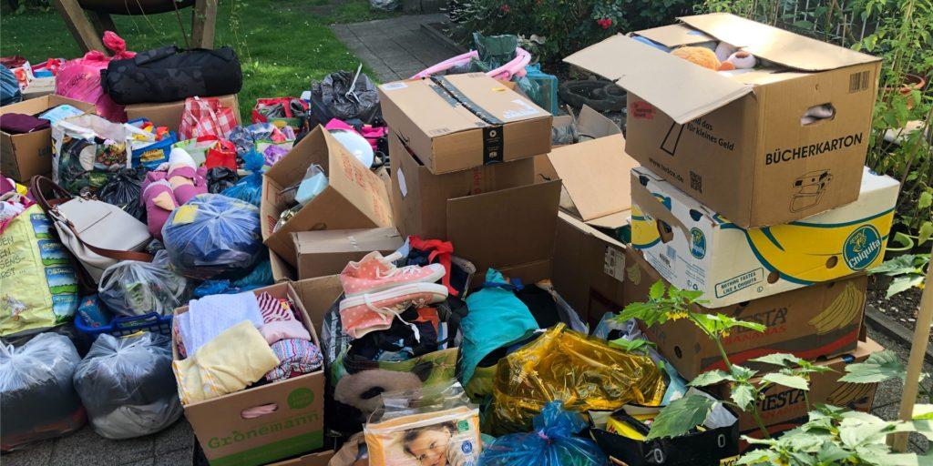 Viele Sachspenden kamen bei der Hilfsaktion zusammen.
