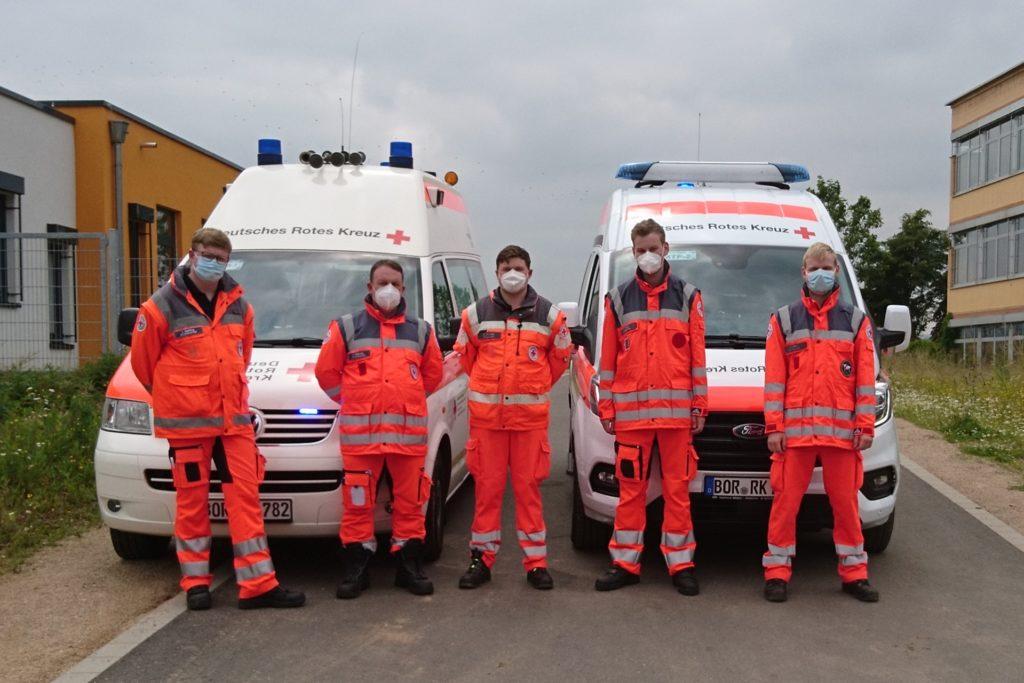 Etliche Stunden waren die Ehrenamtler des DRK-Ortsvereins Heek-Nienborg im Krisengebiet im Einsatz, um den Menschen vor Ort zu helfen.